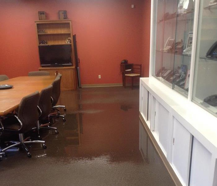 Commercial Conference Room Water Damage