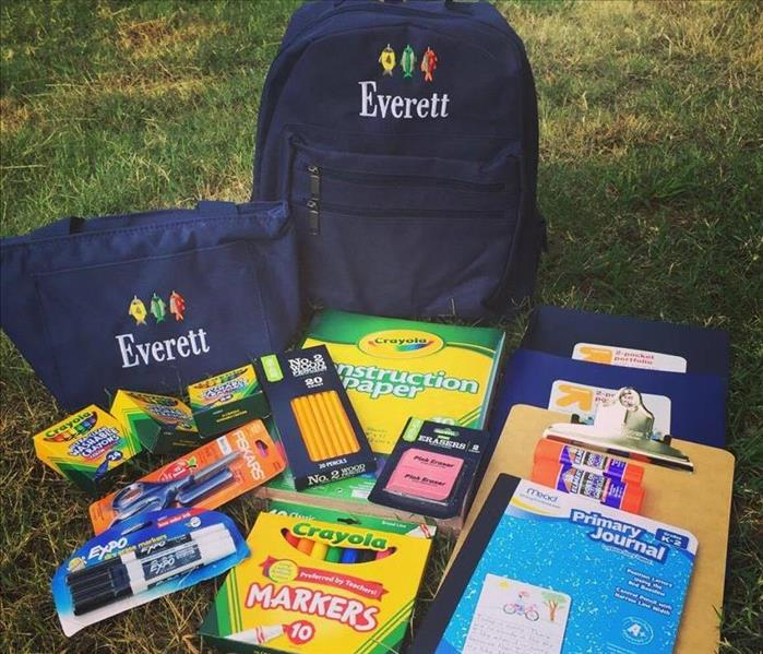 SERVPRO of Corinth/Iuka provided school supplies for a local boy