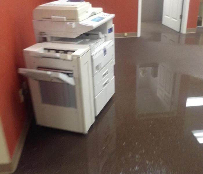 Office Water Damage due to Flooding